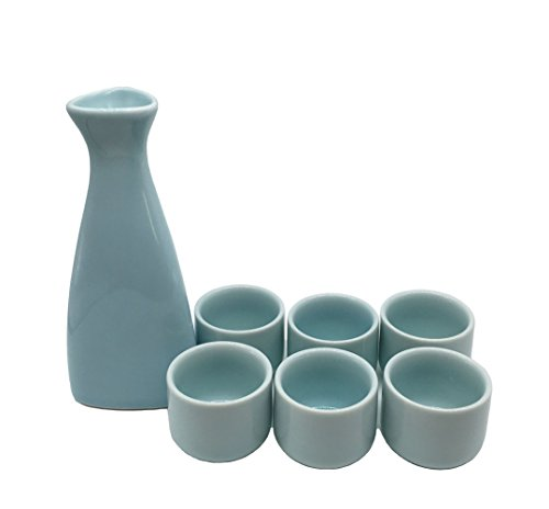 KCHAIN 7 in 1 set Ceramic Sake set (Green) by KCHAIN