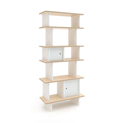 Oeuf Vertical Mini Library - Birch (Box 2), White by Oeuf