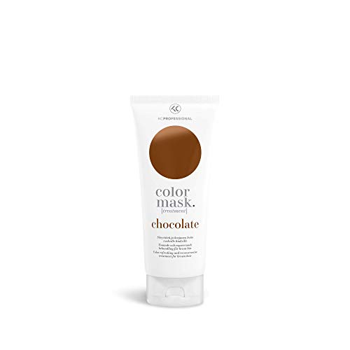 Color Mask Chocolate Reconstructive Treatment - Toning Conditioner for Brown Color Treated Hair - Warm Brown Toning Treatment 6.76 oz - KC Professional (Best Toner For Brown Hair)