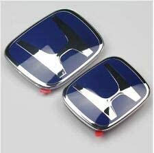 Blue receive within 10 days az JDM H Emblem Front and Rear for 8th 9th Gen Civic 2006-2015 Civic Sedan 4 door 2006 2007 2008 2009 2010 2011 2012 2013 2014 2015 Civic 4DR