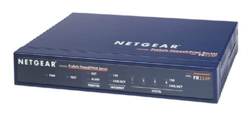 Netgear FR114P Firewall Cable/DSL Router with Print Server