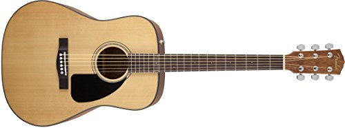 Fender Beginner Acoustic Guitar CD-60 - Natural - Dreadnought - With Case