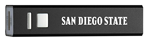 - San Diego State University - Portable Cell Phone 2600 mAh Power Bank Charger - Black