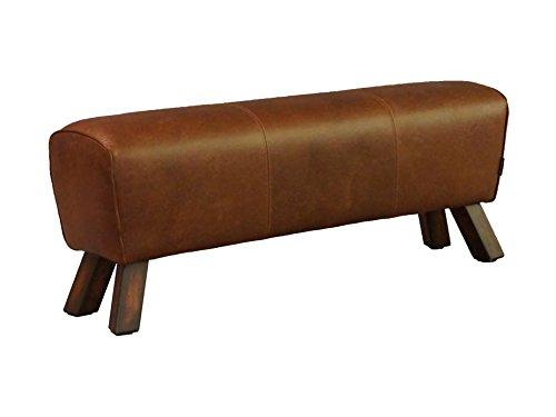 Fußhocker Buck Big Leder Vintage Cigar Lederhocker Hocker Günstig Kaufen