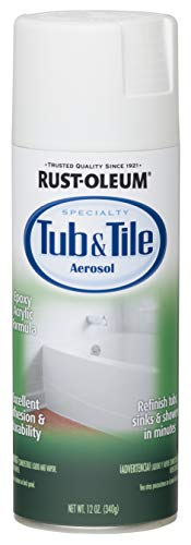 Rust-Oleum 280882 Specialty Tub and Tile Spray Paint, 12-Ounce, White -