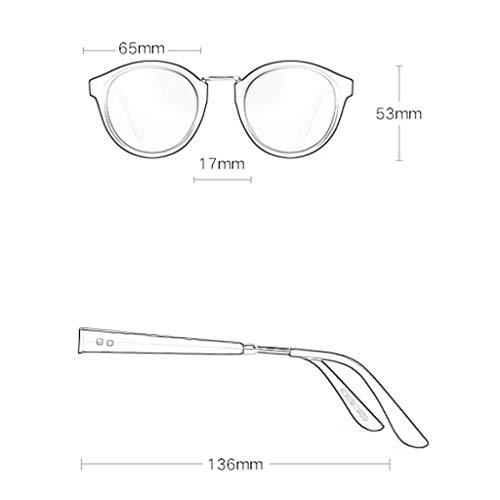 Lunettes D lunettes de Couleur soleil Miroir A Femme Conduite de polarisées Soleil Mode Sport à Nouvelles Des Rond rétro Cadre de Rw1FYxY