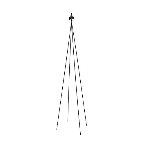 - Achla Designs FT-21 Fleur-de-lis, 78-Inch Wrought Iron Garden Stake Trellis, H, Black