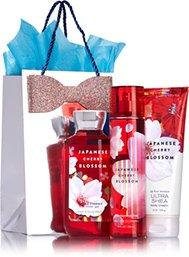 Bath & Body Works JAPANESE CHERRY BLOSSOM Fragrance Favorites Gift Kit ~ Shower Gel ~ Fragrance Mist & Body Cream