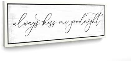 Pretty Perfect Studio Always Kiss Me Goodnight Sign Wall Art