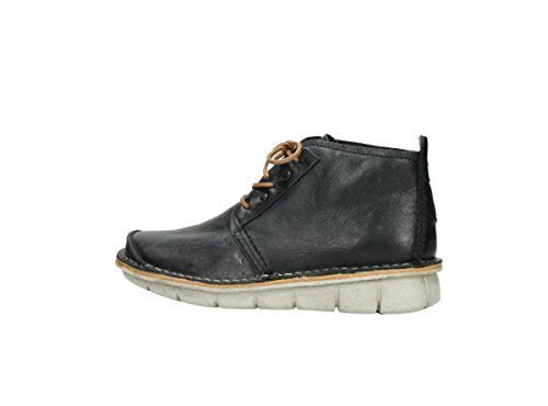 Boots Iberia Black up Lace Comfort Wolky 30070 Summer Leather wqIStp