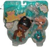 Bratz Lil' Angels Precious Lil' Bundles of Joy Numbered Collector Series 3 Pack Set with Bratz Lil Angelz Sasha (#85), Peach Color Cat (#92) and Blue Gecko (#244)