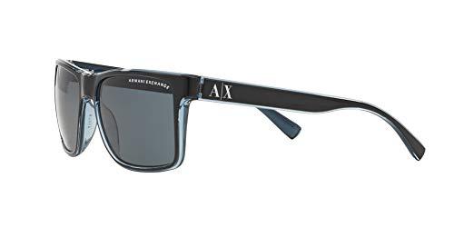 Sunglasses Exchange Armani AX 4016 805187 BLACK/TRANSP. BLUE GREY by A|X Armani Exchange (Image #2)