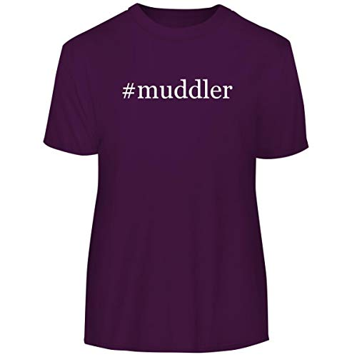 (#Muddler - Hashtag Men's Funny Soft Adult Tee T-Shirt, Purple, Small)