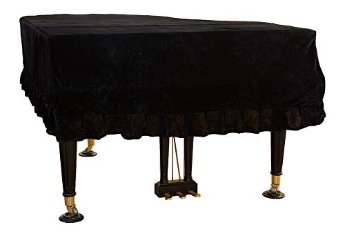 Mitef Classic Pleuche Universal Grand Piano Cover Decorative Piano Cover, Black,Size:150cm/59.0inches