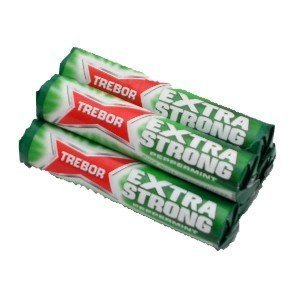 Trebor Extra Strong Mints Pack of 12 Rolls by Trebor - Strong Mints Roll Extra