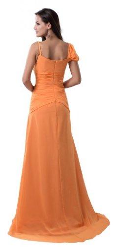Orifashion para vestido de noche para mujer largo naranja naranja