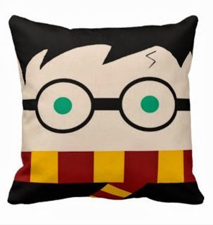 NKaylockstore How cute is this Harry Potter pillow VV-1160 Linen Decorative Pillowcase/Fundas