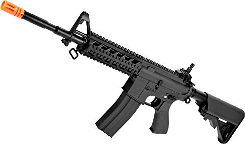 (Evike G&G Custom Full Metal M4 Commando Raider Airsoft AEG Rifle w/Crane Stock (Package: Black/Add 9.6 Butterfly Battery + Smart)