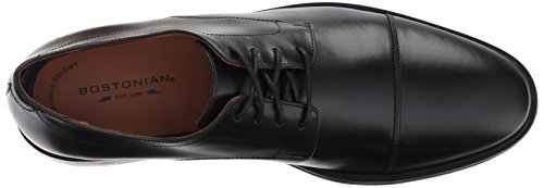 Bostonian Mens Mckewen Cap Oxford Black Leather H4b7ie