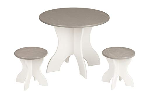 Furniture Barn USA Child's Activity Table & Stools Set - in White & Contemporary Gray