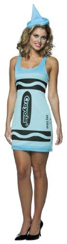 [Crayola Crayon Tank Dress Teen/Junior Costume Sky Blue - Teen] (Sexy Sky Blue Crayon Dress)