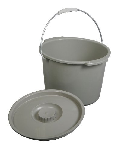 Replacement Commode bucket with Lid, 12 qt. / 2 (12 Quart Bucket)