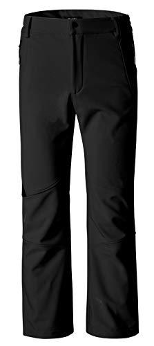 (Wantdo Women's Ski Snow Insulated Fleece Softshell Windproof Pants Black US XL)