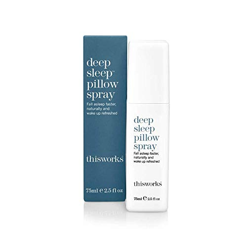 1a63fab9721 ThisWorks Deep Sleep Pillow Spray, 75ml - Natural Sleep Aid with Essential  Oils of Lavender, Vetivert and Camomile