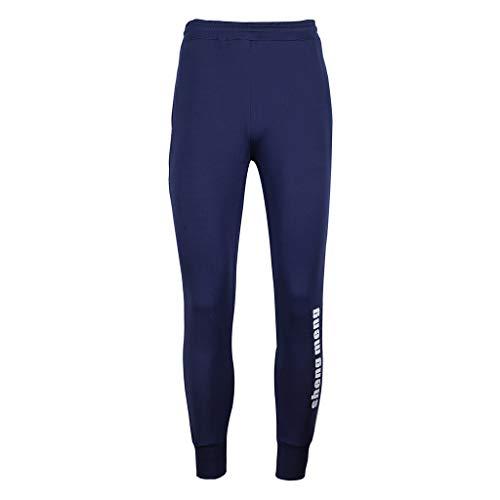 Cher Sport Marine De Tapered Jogging Course Collants Kppong Pas Casual Homme Pantalon Slim Vêtements Fit Legging Survêtement Bleu Coton xpw5nCqz0