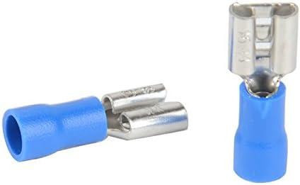 20pcs Bleu 14-16 AWG Isol/ée Femelle Fil Crimp Terminal Cosse