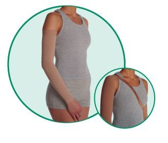 (Varin Soft-In Arm Sleeve - Regular, Beige, Size 1, Extra Small, Compression 30-40 mmHg, Model 3512)