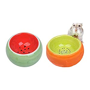 Hamster Bowl, Ceramic Guinea Pig Water Bowl Small Animal Food Dish for Syrian Hamster Rabbit Gerbil Chinchilla Hedgehog…