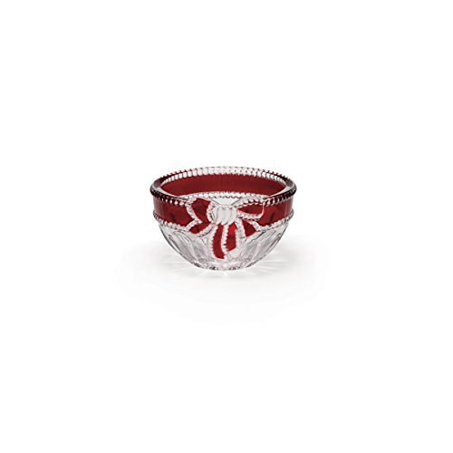 Holiday Candy Dish (Celebrations by Mikasa Ruby Ribbon Crystal Candy Bowl 4.75-Inch)