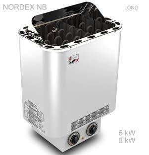 stufa sauna Nordex 6 kw con controllo integrato