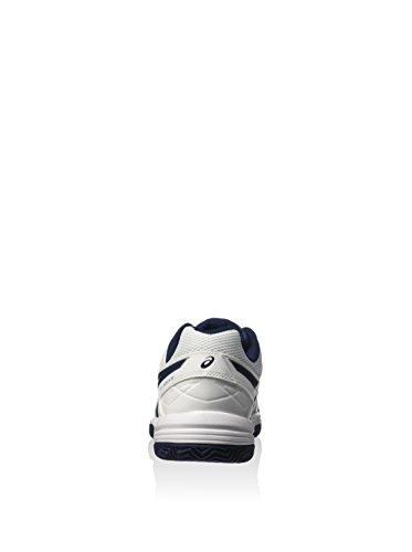 Asics - Geldedicate 4 Clay 0143 - Color: Blanco Blanco / Azul Marino / Plata