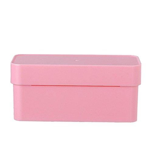 - Yezijin Multi-Function Garbage Bag Storage Box Organizer Kitchen Arrange Collection Box (Pink)