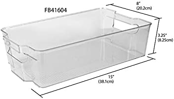 Home Basics - Cubo de basura de plástico extragrande con asa ...