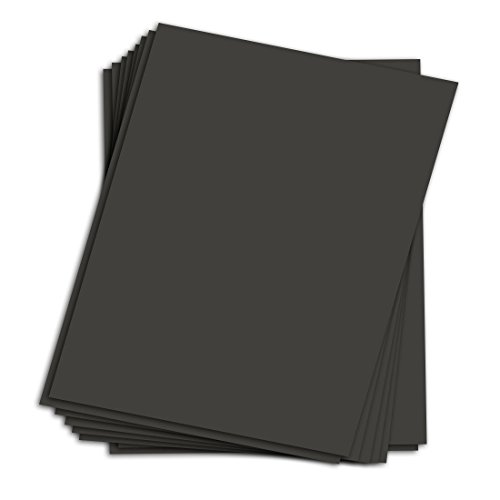 25 Sheets Black Chipboard | Medium Weight Chipboard Sheets | 30 pt (624 gsm) | 8.5 x 11 Inches by S Superfine Printing