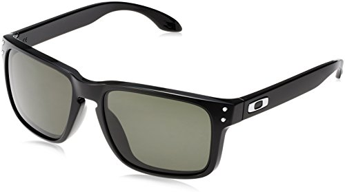 Oakley Men's Holbrook (a) 0OO9244 Rectangular Sunglasses, POLISHED BLACK, 56.02 - Oakly Holbrook