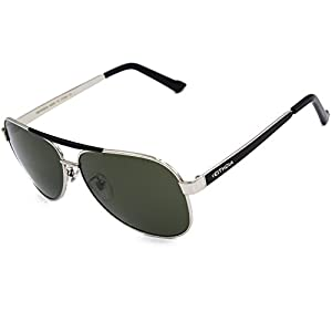 VEITHDIA 3152 High Grade Classic Polarized Aviator Sunglasses 100 UV Protection (Silver)