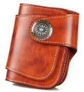 01a326835285 Alzar presents ビンテージ 古着にぴったり 二つ折り 本革 財布 アメカジ 【コイン付き】