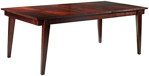 FURNITURE@HOME Indigo Collection Dining Table, Cherry - Hand selected hardwood solids and quality craftsmanship means sturdy construction for long-lasting wear Top selected walnut veneer gives this table a touch of class Sophisticated hand-placed cherry grain inlay design - kitchen-dining-room-furniture, kitchen-dining-room, kitchen-dining-room-tables - 31MQXQLuQHL -
