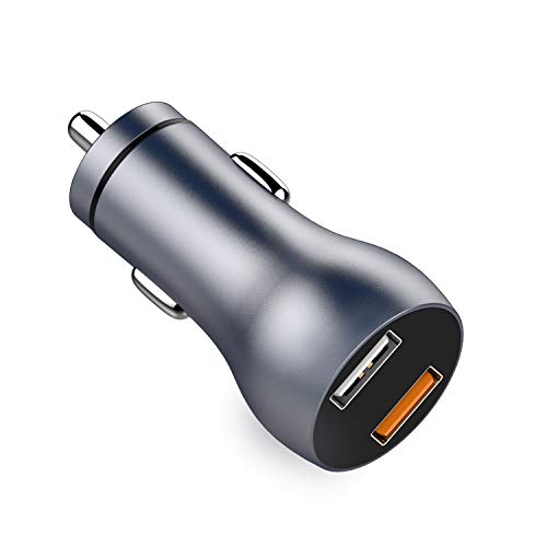 Car Charger, Quick Charge 3.0, Dual USB 5.4A/30W Fast Car Charger Adapter Compatible with iPhone Xs max/XR/x/7/6s, iPad Air 2/Mini 3, Samsung Galaxy S10 S9 S8 S7 etc.