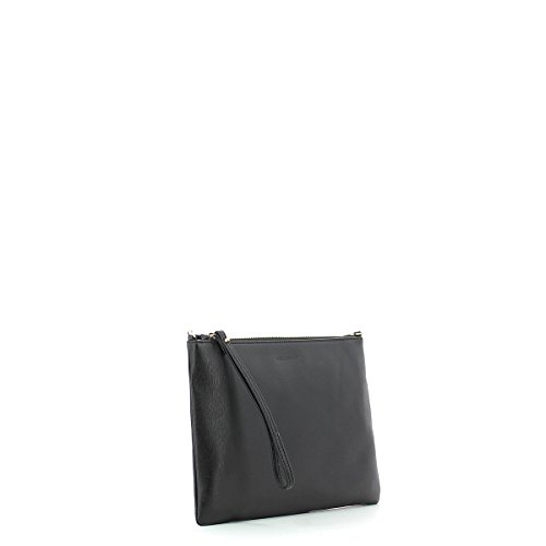 Coccinelle borsa pochette con tracolla in pelle saffiano Nero