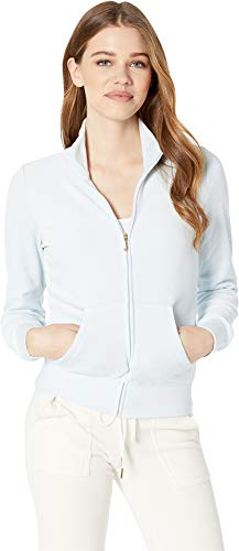 - Juicy Couture Women's Fairfax Velour Jacket Crystal Clear Petite/X-Small