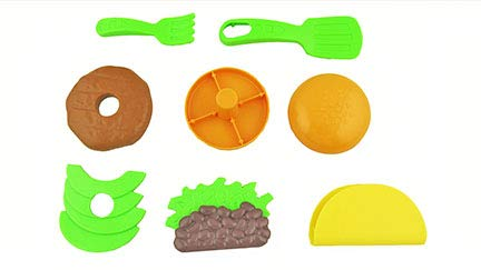 Fisher-Price Laugh & Learn Servin' Up Fun Food Truck - Replacement Food - Includes Hamburger with Meat & Lettuce, Taco with Shell, Meat and Beans and Utensils