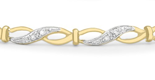 Carissima Gold - Bracelet - Femme - Or jaune 375/1000 (9 cts) 3.64 gr - Diamant - 19 cm