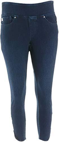 Belle Kim Gravel Petite Flexibelle Ankle Jeans Dark Indigo 6P New A347152 from Belle by Kim Gravel