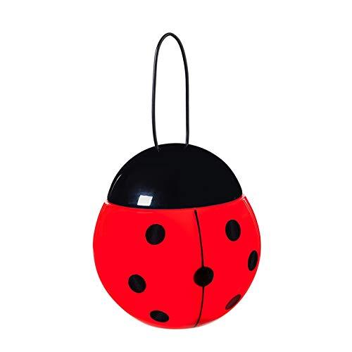 Red Ladybug House - Evergreen Garden Jitterbug Red Ladybug LED Rechargeable Outdoor Lantern