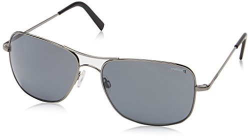 (Randolph Men's Archer Polarized Square, Dark Ruthenium Polished, 63 mm)